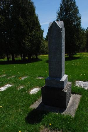 Picture of large grave monument