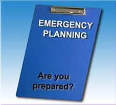 Clip art that has picture of clipboard that says Emergency Planning - Are you prepared?