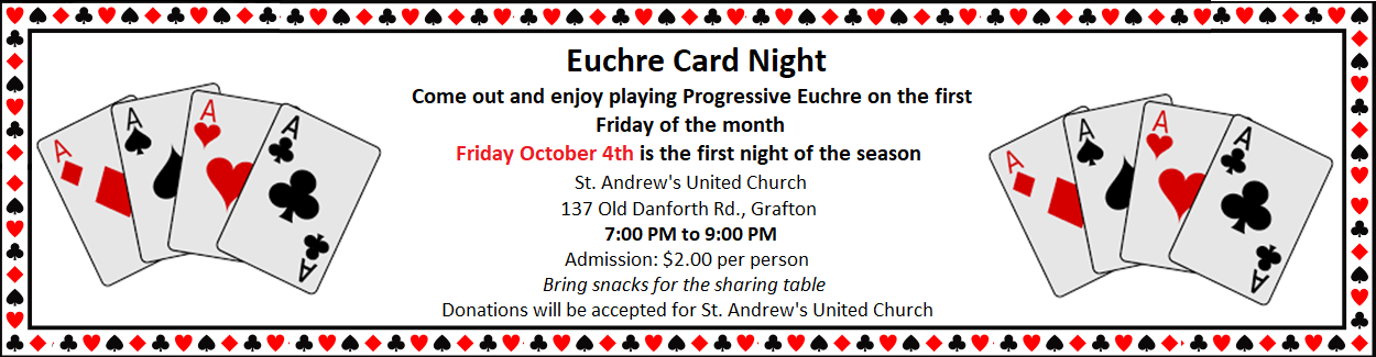 Euchre Card Night at St. Andrew's Church