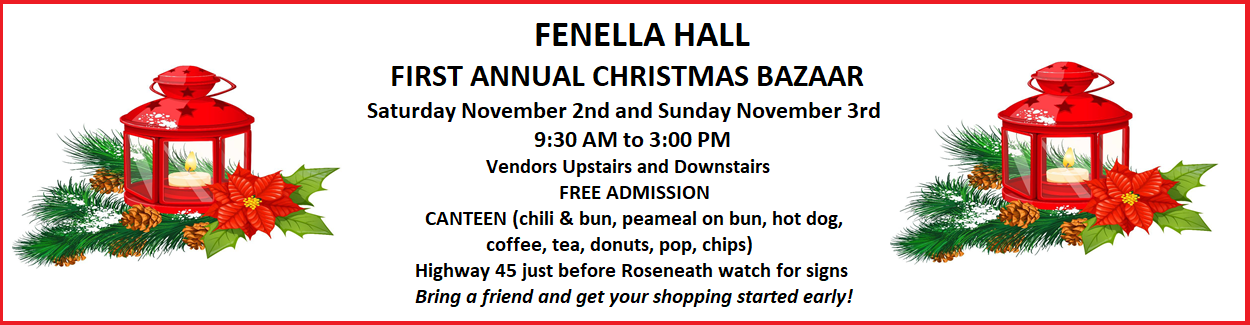 Fenella Hall First Annual Christmas Bazaar