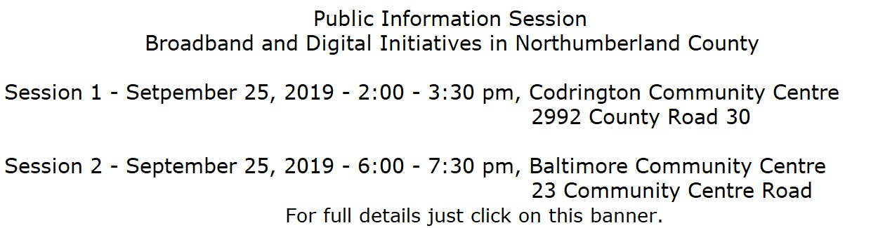 Broadband digital initiatives public info sessions
