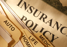 image of insurance paper and folders