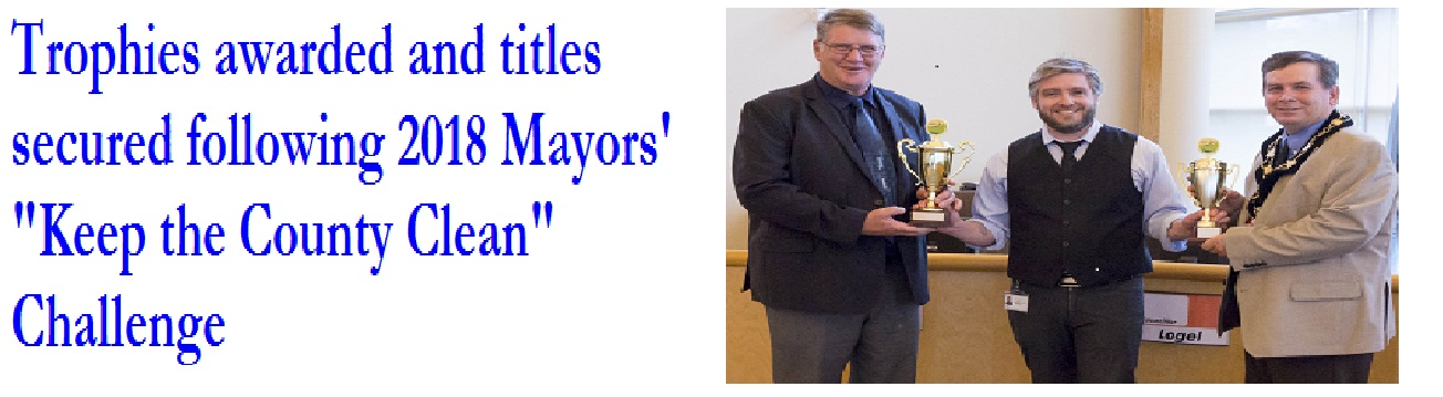 Trophies Awarded for Mayors' Challenge - A/H a winner!